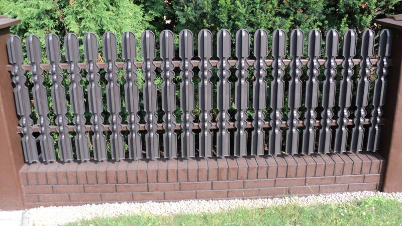 przesla metalowe na ogrodzenie